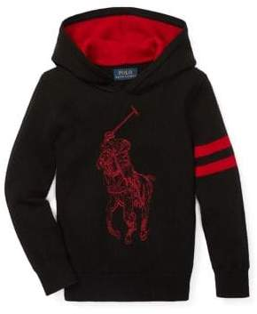 Ralph Lauren Childrenswear Little Boy's Graphic Merino Wool Hoodie