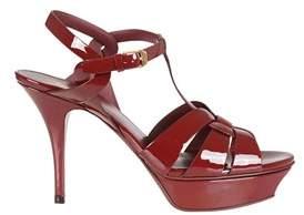 Saint Laurent Women's Red Leather Sandals.
