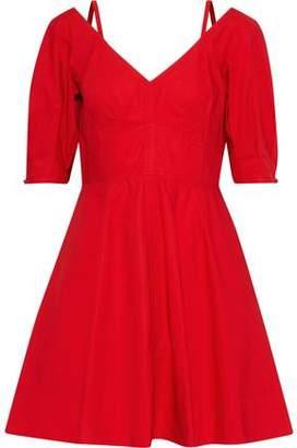 Derek Lam 10 Crosby Cold-Shoulder Cotton-Poplin Mini Dress