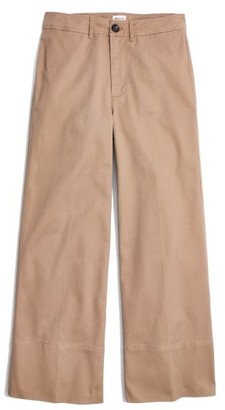 Madewell Women's Wide Leg Crop Chino Pants