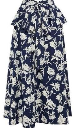 Sachin + Babi Layered Floral-print Twill Maxi Skirt