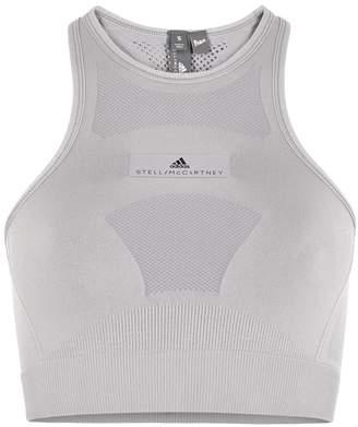 Stella McCartney Adidas X Adidas X Light Grey Stretch-jersey Bra Top