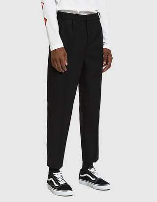 Need Double Pleat Wool Trouser in Black