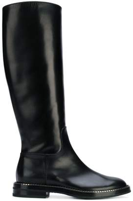 Casadei below-the-knee zipped boots