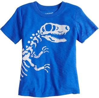 Toddler Boy Jumping Beans Dinosaur Bones Short Sleeve Slubbed Graphic Tee