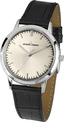 Jacques Lemans Nostalgie N-1563A Ladies Black Leather Strap Watch