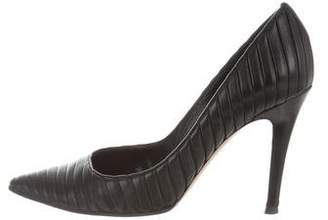 Gianvito Rossi Pointed-Toe Leather Pumps