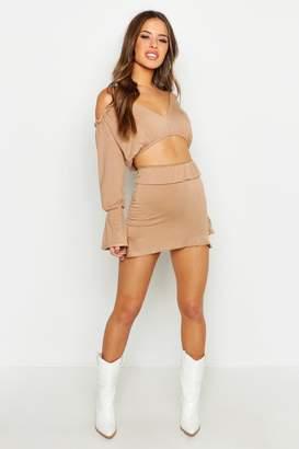 boohoo Petite Frill Hem Mini Skirt