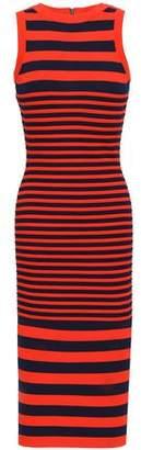 Milly Striped Jacquard-knit Midi Dress