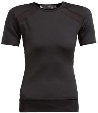 adidas by Stella McCartney Essential Mesh Panel Performance T Shirt - Womens - Black