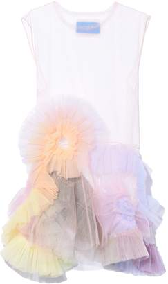 Viktor & Rolf Rainbow Swirl Dress in Light Pink