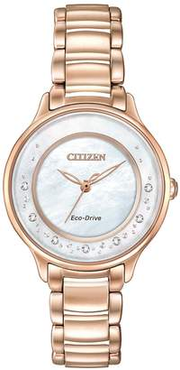 Citizen Eco-Drive Rose Gold Tone L Circle of Time Watch