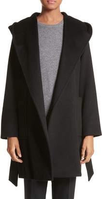 Max Mara Rialto Hooded Camel Hair Coat