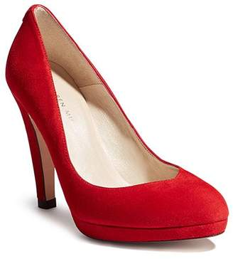 Karen Millen Women's Suede Platform High-Heel Court Pumps