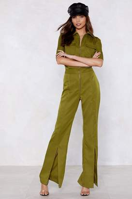 Nasty Gal Slit This One Out Zip Jumpsuit