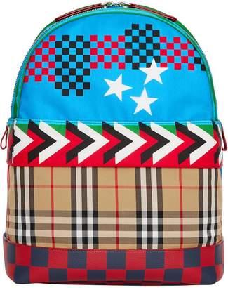 Burberry Graphic Print Nylon Backpack