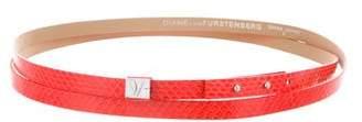 Diane von Furstenberg Haily Embossed Wrap Belt w/ Tags