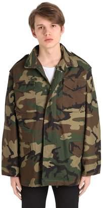 Alpha Industries Oversized Camo Cotton Field Jacket