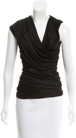 Alexander Wang Alexander Wang Draped Sleeveless Top