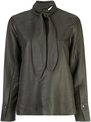 PARTOW neck-tie blouse