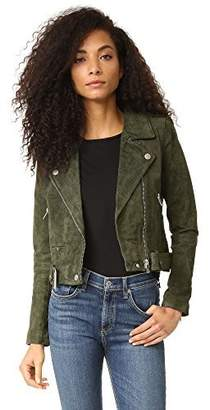 Blank NYC [BLANKNYC] Blank Denim Women's Genuine Suede Moto Jacket