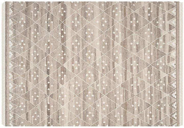 2'3x8' Annie Flate-Weave Rug - Natural - 8'x10'