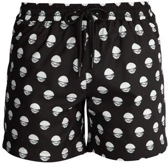 COMMAS Rising Sun-print swim shorts