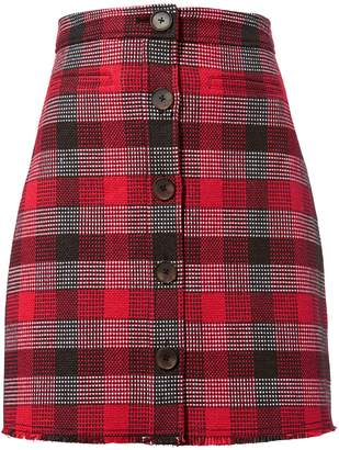 Derek Lam 10 Crosby Plaid Mini Skirt