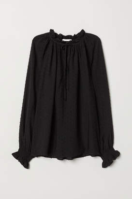 H&M Blouse with Smocking - Black