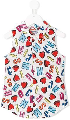 Moschino Kids letter print blouse