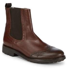 Canali Leather Ankle Boots