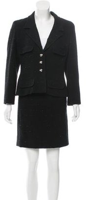 Chanel Wool Skirt Suit $800 thestylecure.com