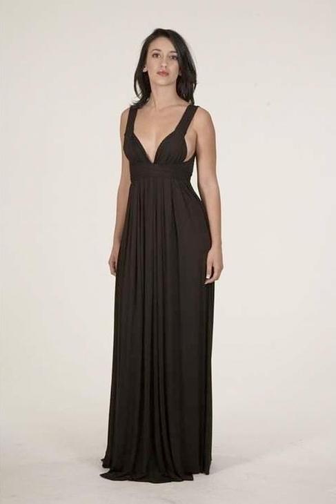 Rachel Pally Athena Long Dress in Black