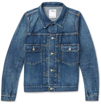 Visvim Slim-Fit Washed-Denim Jacket - Men - Indigo
