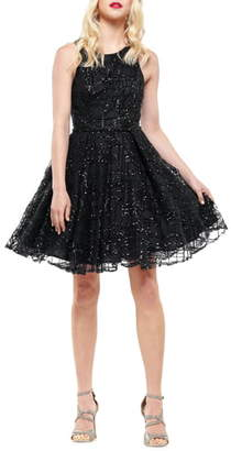 Colors Dress Sequin Checked Party Dress