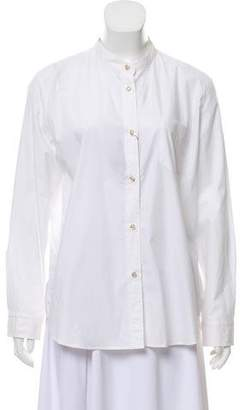 Isabel Marant Mandarin Collared Button-Up Shirt