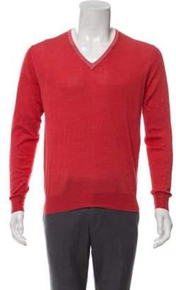 Isaia Silk-Blend V-Neck Sweater coral Silk-Blend V-Neck Sweater