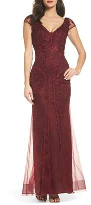 Xscape Evenings Embroidered Sheath Gown