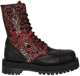 Pop Boy 40mm Dirty Jacquard & Leather Boots
