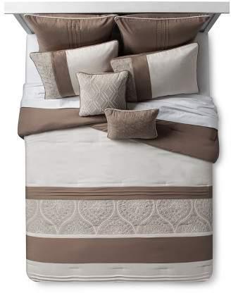 Crewel Embroidered Delfina Comforter Set 8pc