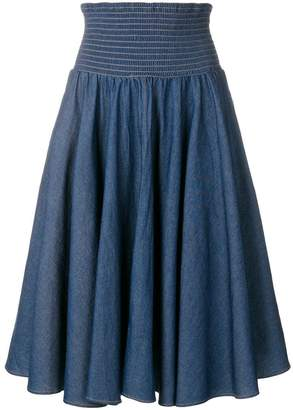 Julien David high waisted flared skirt