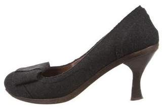 Marni Felt Round-Toe Pumps