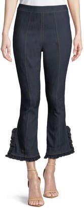 Cinq à Sept Seneca Ruffled Wide-Leg Jeans