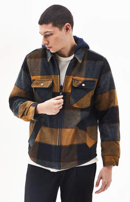 Brixton Bowery Plaid Flannel Zip Jacket