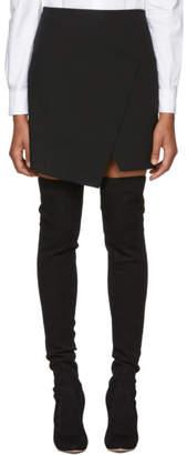 Tibi Black Flap Front Miniskirt