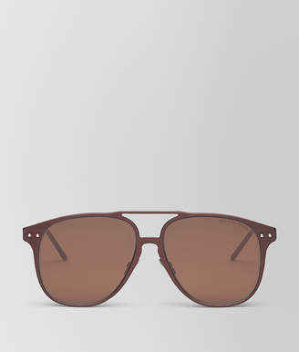 Bottega Veneta BROWN ALUMINUM SUNGLASSES