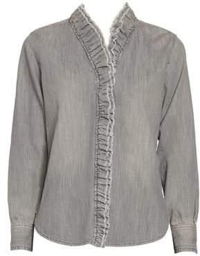 Etoile Isabel Marant Denim Ruffle Shirt
