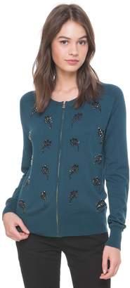 Juicy Couture Jewel Paisley Zip Cardigan