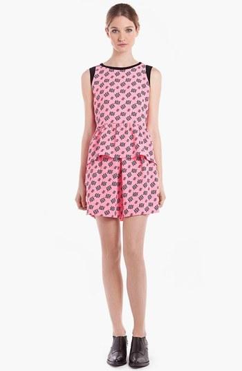 Sandro 'Joyeuse' Miniskirt Rose Fluo 3