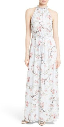 Women's Ted Baker London Elynor Floral Print Maxi Dress $429 thestylecure.com